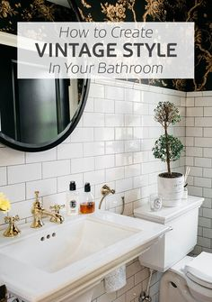 How to create vintage style in your bathroom by Susie Earlam. Susie is the creator of the popular and multi-award-nominated Old Fashioned Susie, a UK lifestyle and interiors blog. With a particular penchant for quirky vintage design, we knew she'd be the perfect person to share how