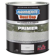 Hammerite Rust Cap 48300 1 Qt Gray Galvanized &