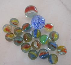 20 VINTAGE RARE GREEK 70s MARBLES AMAZING COLORS GAME PREW OWNED GIFT RARE - http://hobbies-toys.goshoppins.com/marbles/20-vintage-rare-greek-70s-marbles-amazing-colors-game-prew-owned-gift-rare/