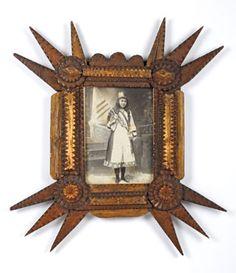 Tramp Art Star Cornered Frame
