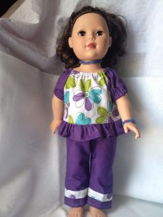 Doll Clothes - Alyssa Top and Straight Pants- $15
