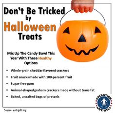 Don't be tricked this #Halloween! Check out these healthy alternatives that you can offer trick-or-treaters this year! #OLW #healthyeating