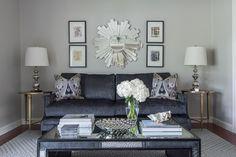 EJ Interiors.  Arrangement above couch?