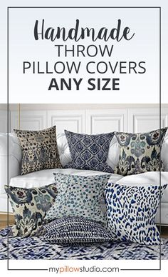 Blue pillow covers to update your home decor. #BlueDecor #Home #FarmhouseDecor #Etsy