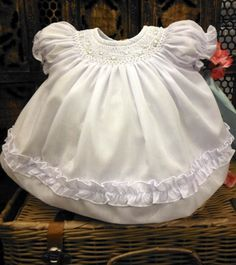 Newborn Girls Infant Party Pageant Dress Eyelet Lace 2-Piece Sz 12M NWT 0-3M
