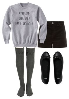 """""""Band Obsessed"""" by bananathecockatiel ❤ liked on Polyvore featuring mode et ASOS"""