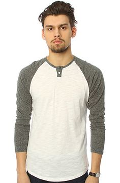 The Baseball Henley in White Slub by All Day