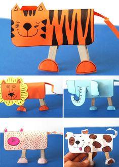 Hayvan yapımı, aslan, fil, köpek etkinlikleri çalışmaları kalıplı kağıt el işleri çalışması ve örnekleri etkinliği. Preschool activities craft site. KALIPLAR Resmi İndir Resmi İndir