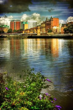 Clyde View by Karl Williams - The River Clyde looking NW from Carlton Place...Glasgow, Scotland