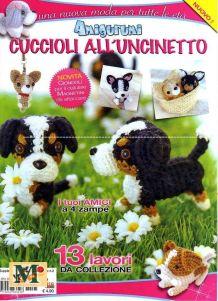 Artesanato Feito a mao: Revista Gratis de Amigurumi Cachorrinho Amigurumi Free, Amigurumi Doll, Crochet Dog Patterns, Amigurumi Patterns, Dog Crafts, Fun Crafts For Kids, Crochet Books, Love Crochet, Japan Crafts
