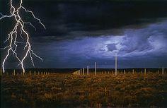 Walter de Maria, Lightning Field, New Mexico (1977).