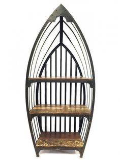 Moroccan Oriental Arabian Standing Iron Boat Shelf Shelves Handmade India Orient | eBay