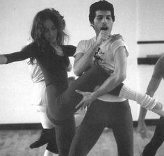 Me encanta esta foto de ensayo. De rapsodia con el royal ballet.