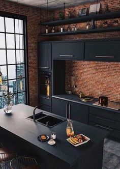 40 greatest kitchen inside design concepts 2019 # concepts … Kitchen with central kitchen unit: modern kitchen from KitzlingerHaus GmbH & Co. KG Hammock chair over beautiful wooden floor – living inspiration 20 Modern Master Bathrooms Connected To Nature Interior Modern, Traditional Kitchen Interior, Interior Design Kitchen, Modern Luxury, Traditional Kitchens, Black Luxury, Luxury Loft, Interior Livingroom, Traditional Bathroom