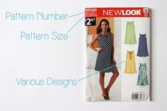 Learn how to choose a pattern and how to read the markings on the back of a pattern envelope and on a pattern itself.