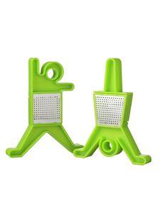 Set 2 Filtri Dancer Verde QDO | Coquelicot Design Set 2 porta infuso tè Dancer a forma di uomo e donna Materiale: Plastica e acciaio colore: VERDE