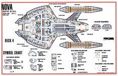 Technical schematic of Nova-class starship