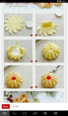 How to make cute cookie cell phone charms - stuffed toy pattern sewing handmade craft idea template inspiration felt fabric DIY project children food play Felt Diy, Felt Crafts, Fabric Crafts, Felting Tutorials, Craft Tutorials, Felt Food Patterns, Felt Play Food, Cute Cookies, Felt Fabric