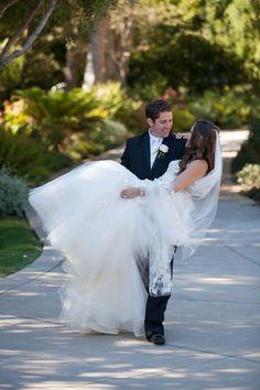adorable bride and groom photo by Melissa Musgrove Photography | via junebugweddings.com