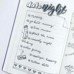 bullet journal idea | bujo date night family partner