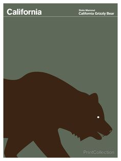 California Grizzly Bear // Love the design in this series of state books