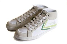 1ddcf88f7c39 For sale at The Canny Man - The Feiyue White and green Delta Mid men s  hi-top sneaker has a canvas and suede upper