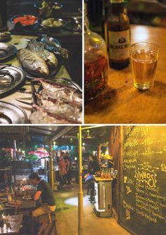Dining at the Kebab Lounge in Vila do Abraão on Ilha Grande, Brazil | heneedsfood.com