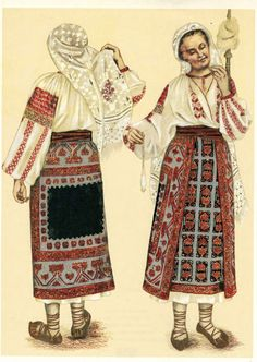 Costum popular romanesc Popular Costumes, Ukrainian Dress, Folk Dance, Folk Embroidery, Animal Masks, Folk Costume, Girl Blog, Embroidery Techniques, Historical Clothing