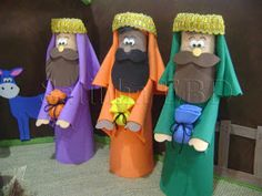 Nativity Crafts, Christmas Nativity, A Christmas Story, Christmas Ornaments, Popsicle Stick Christmas Crafts, Christmas Crafts For Kids To Make, Bible Crafts For Kids, Activities For Kids, Les Trois Rois Mages