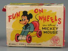 Fun On Wheels Walt Disney's Mickey Mouse Mickey Mouse Room, Walt Disney Mickey Mouse, Vintage Mickey Mouse, Disney Toys, Vintage Disney, Online Collections, Old Toys, 1930s, Board Games