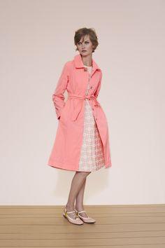 Orla Kiely spring 2015 lookbook #coat #pink