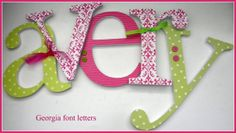 5 Wooden Wall Nursery Letters  EIGHT INCH by dwellingonline, $65.00