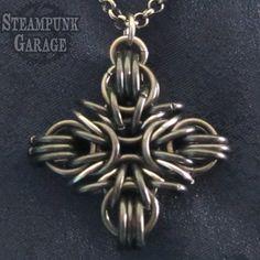 BLACK Greek / Iron / Catholic Cross  Pendant  by SteamPunkGarage, $50.00