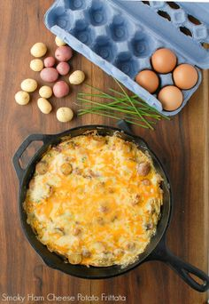 Smoky Ham Cheese Potato Frittata - BoulderLocavore.com.  Deep with flavor and done in 30 minutes start to finish!