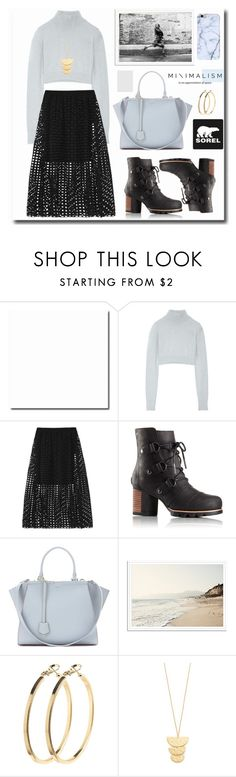 """""""Kick Up the Leaves (Stylishly) With SOREL: CONTEST ENTRY"""" by kts-desilva ❤ liked on Polyvore featuring Balmain, Maje, SOREL, Fendi, Pieces, Gorjana and sorelstyle"""