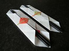"""折り紙 箸袋の折り方 How to Origami """"Chopstick envelope"""""""