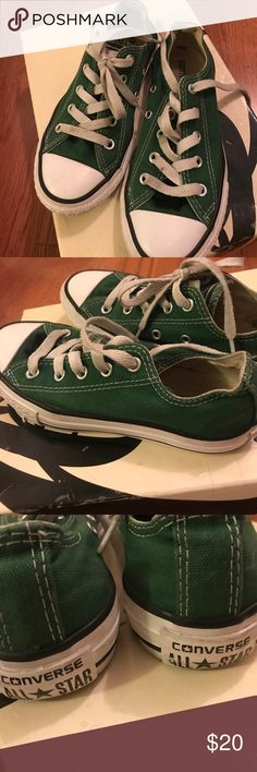 Green kids CONVERSE Dark green kids converse Converse Shoes Sneakers