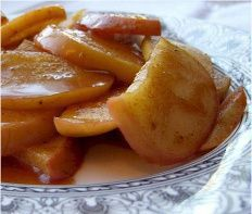 hCG Diet Recipes - Apple Slices With Cinnamon Sauce