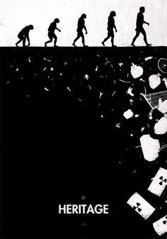 L'évolution de l'Homme détournée de 99 façons dans des illustrations inventives et satiriques