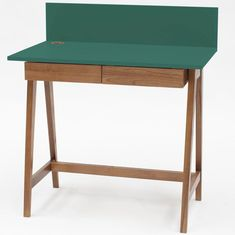 Luka Writing Desk 110cm Ragaba • WOO .Design Home Office, Office Desk, Wooden Drawers, Study Space, Cable Management, Writing Desk, Foot Rest, Furniture, Design