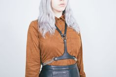 The Serpentine Harness, available at www.blackhorne.com  Photo by Allyce Andrew Model Una Blue