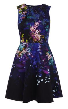 Dark floral print dress | Luxury Women's shop_all | Karen Millen