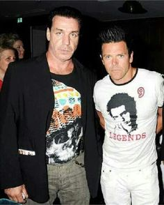 Till and Richard. Rammstein <3