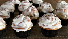 Cinnamon Roll cupcakes.  Easy because you use frozen rolls instead of mixing up batter.