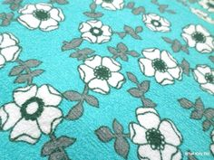 vintage terry towelling fabric