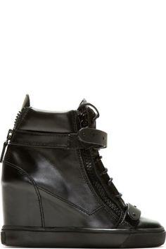 Chloé - Red Wedge Sneakers   SSENSE