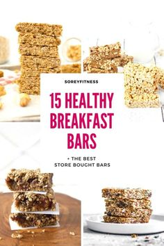 Healthy Breakfast Bars | The Best Granola & Oatmeal Breakfast Bar Recipes and Store-Bought Bars | Gluten-Free, Dairy-Free & Vegan Options! #healthyrecipes #healthyeating #healthybreakfast #breakfastrecipes