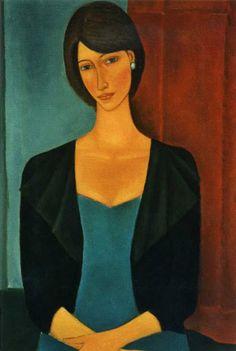 Roman Zakrzewski was a Polish painter. The main theme of Zakrzewski's paintings is the. Chaim Soutine, Abstract Face Art, Painting People, Painting Gallery, Portrait Art, Figurative Art, Painting Inspiration, Art Images, New Art