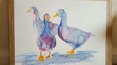 Just finished these 3 geese will be available from artatdylshouse.com#geese#duck#farm animals