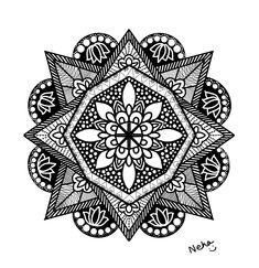 created this digital mandala designed my own creativity using procreate Mandala Design, Digital Art, Creativity, Create, Illustration, Cards, Illustrations, Maps, Playing Cards